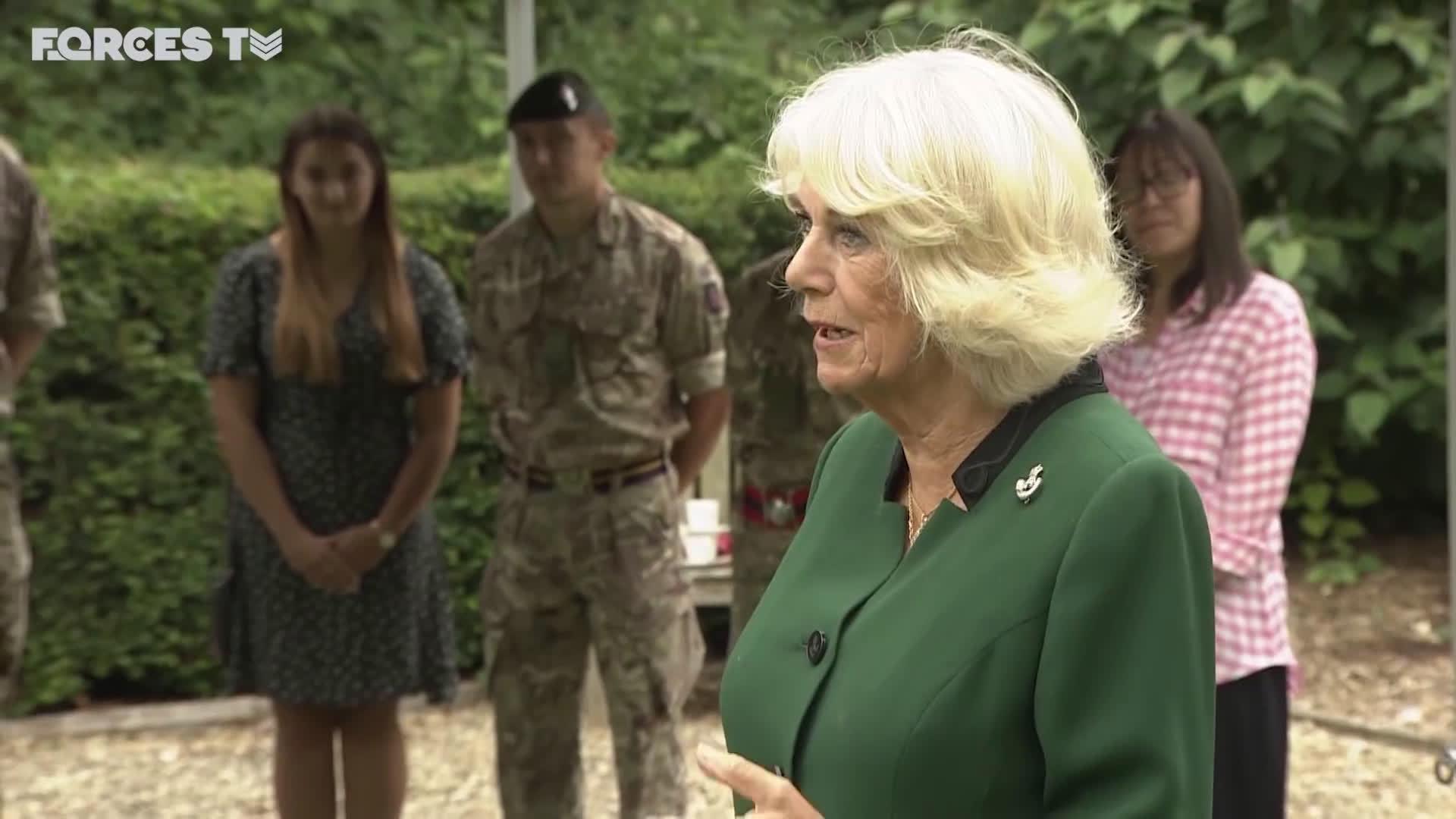 康沃尔公爵夫人首次作为荣誉团长Colonel-In-Chief访问陆军步枪兵