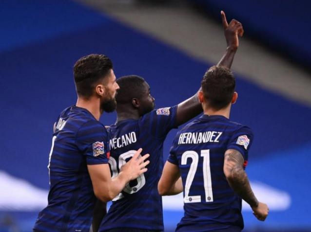 欧国联A级的一场小组赛中,法国队以4-2击败了克罗地亚