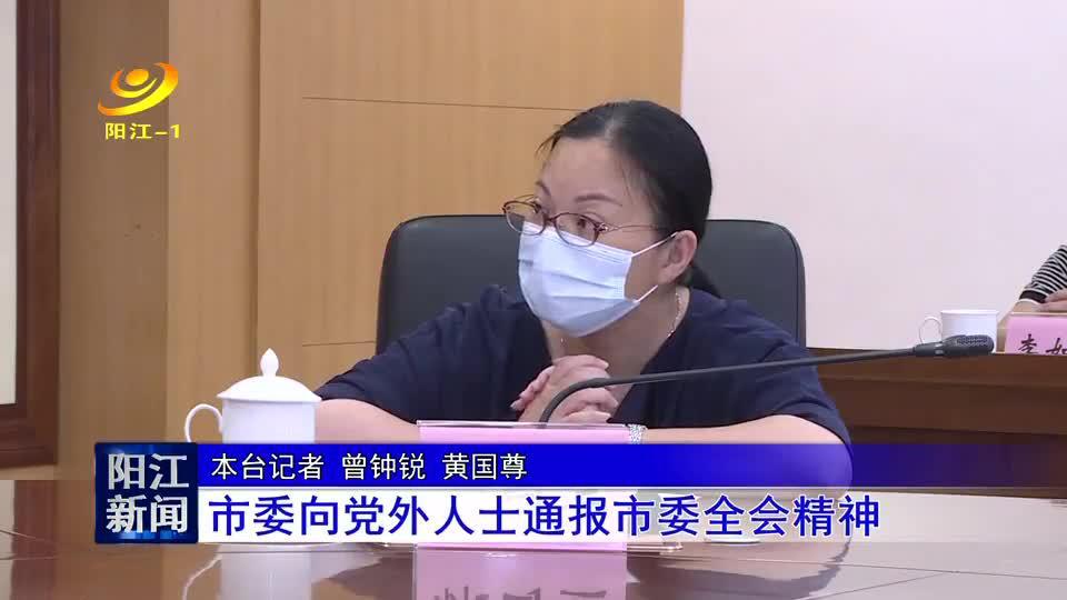 阳江市委向党外人士通报市委全会精神