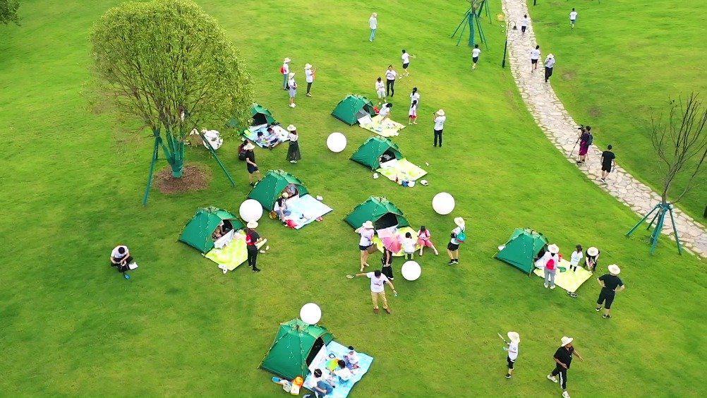 惊艳,千岛湖首个以亚运为主题的体育生态公园开园!