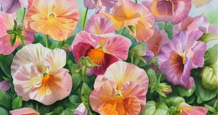 德裔美国画家卡梅洛·布兰迪诺他画的每一朵花,都会释放回忆