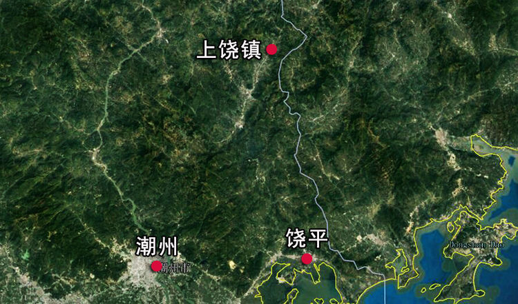 乐彩彩票:广东省饶平县最偏远的城镇 人口约7万 与江西一个地级市同名