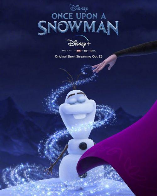 《冰雪奇缘》的衍生短片《雪人往事》首款海报公布