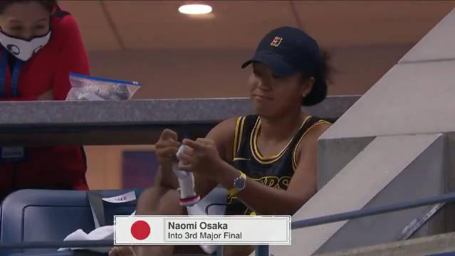 这位是真科蜜啊,🎾网球女将大坂直美在美网比赛里身穿曼巴球衣……