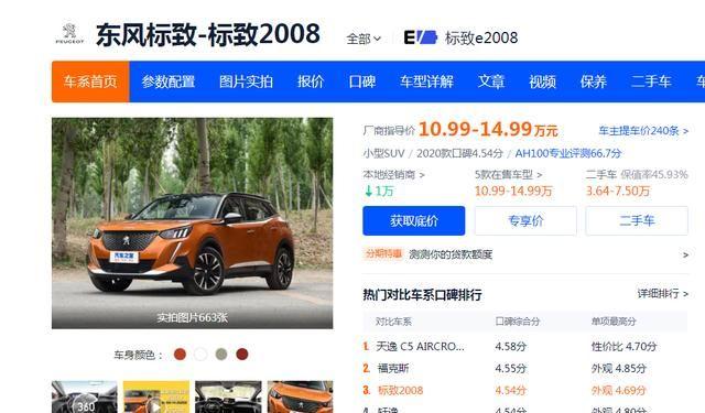 7万卖出64辆,标致2008的失败,也给一些国产车厂家敲响了警钟