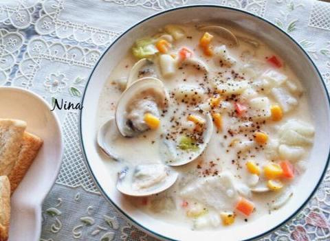 养生汤分享:白豆腐番茄汤、山药龙骨汤、鲜奶芝士蛤蜊的简单做法