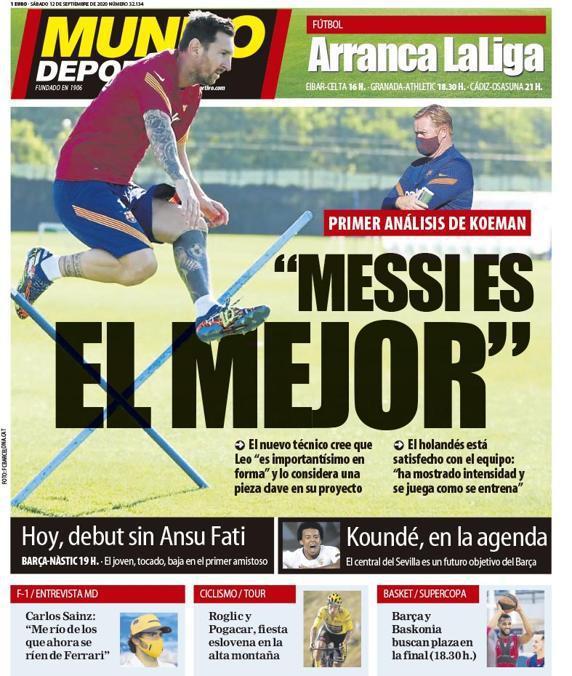 9月12日,西班牙《世界体育报》
