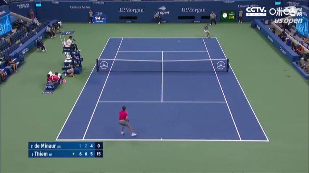 9月10日上午,美国网球公开赛男单四分之一决赛继续展开争夺……