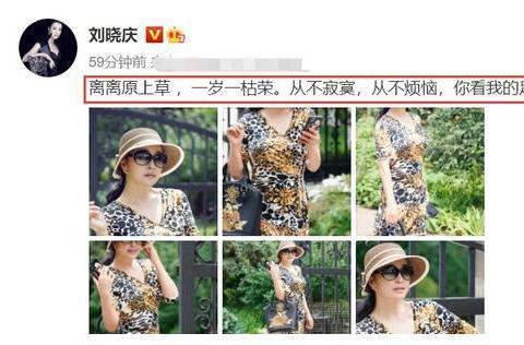 65岁刘晓庆状态好,穿豹纹连衣裙气质佳!富豪老公把其宠成公主
