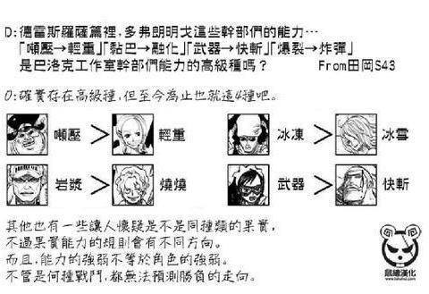 海贼王:官方给出的4组上下位果实,武器果实是切割果实的高级种