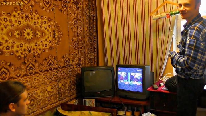 看有线电视再也不用买卫星锅了,俄罗斯电工用两个啤酒罐就搞定!
