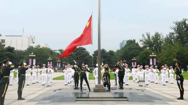 清华大学举行2020-2021学年度升国旗仪式