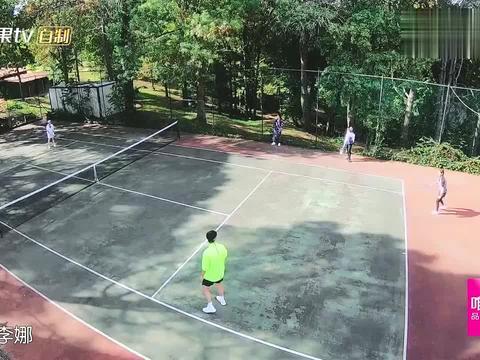 妻子:李娜和谢娜打网球,用削球遭到谴责,魏大勋:你玩阴的
