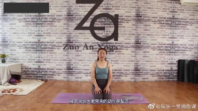 瑜伽动作犁式,灵活脊柱锻炼后腰!