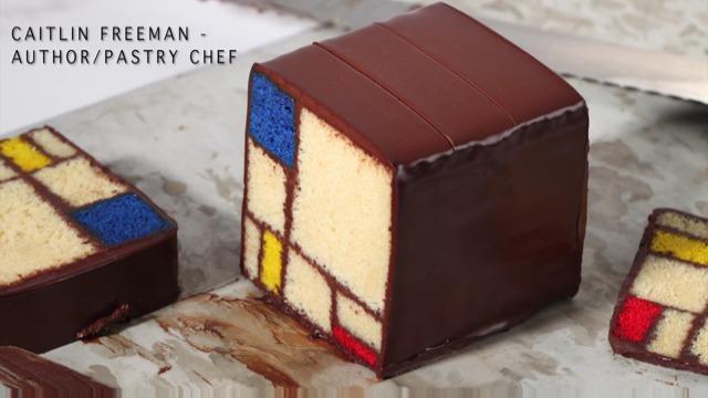 如何制作一个蒙德里安蛋糕?