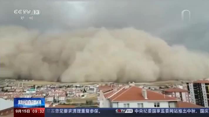 土耳其沙尘暴吞没安卡拉