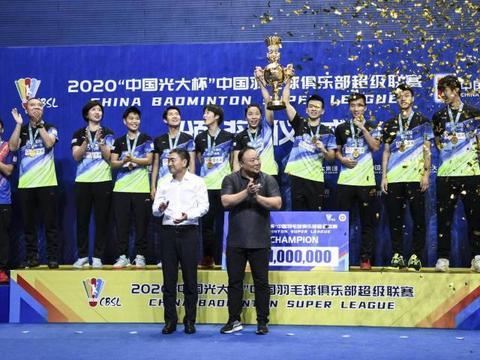 青岛仁洲3:0瑞昌碧源,夺得本赛季羽超冠军