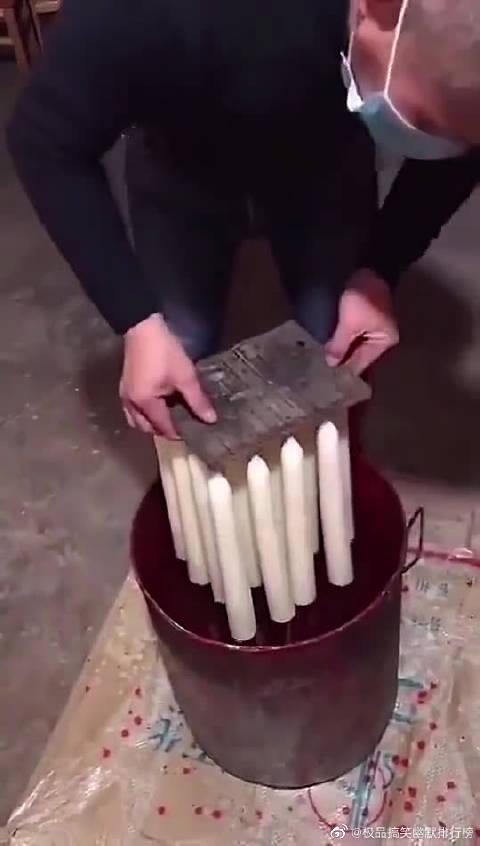 白蜡烛是这么来的