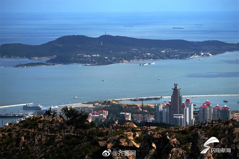 登高望远,里口山上,威海城市风貌尽收眼底