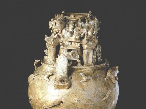 故宫珍藏宝物,高超艺术造诣的三国青釉坛,有确切纪年的珍贵文物