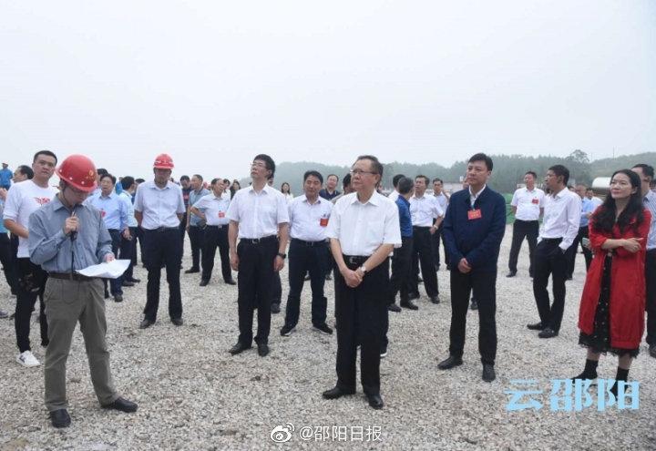 """龚文密刘事青率队现场观摩""""五网""""项目建设推进情况"""