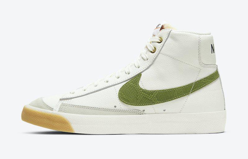 Nike Blazer Mid'77 即将来袭,白色皮革+灰色磨砂覆盖鞋身……