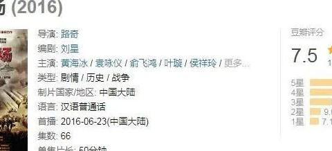 黄海冰、马晓伟主演的《东方战场》好评无数,为何只有7.5评分