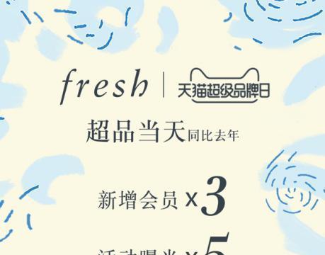 还原自然本色,Fresh馥蕾诗天猫超级品牌日强势来袭