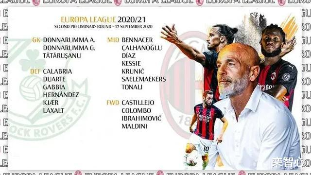 AC米兰公布欧联杯资格赛大名单:伊布、托纳利、多纳鲁马领衔!