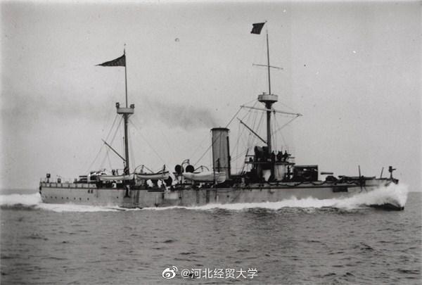 1894年9月17日,中日甲午海战中邓世昌壮烈殉国