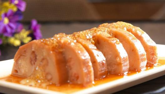 桂花糯米藕、菠菜炒猪肝、萝卜炖牛肉、菠萝芦笋意面