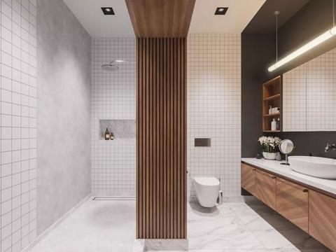 卫生间储物柜预算不足,设计师给我墙上凿个洞,省钱实用还好看