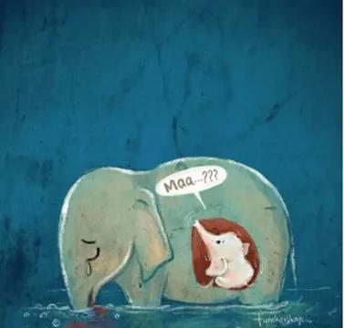 怀孕的母象死在了河中央,还有更多的大象正在经历死亡