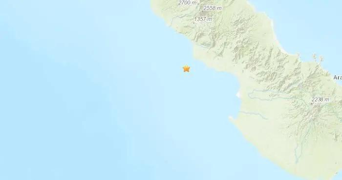 巴布亚新几内亚附近5.1级地震 震源深度82.8公里