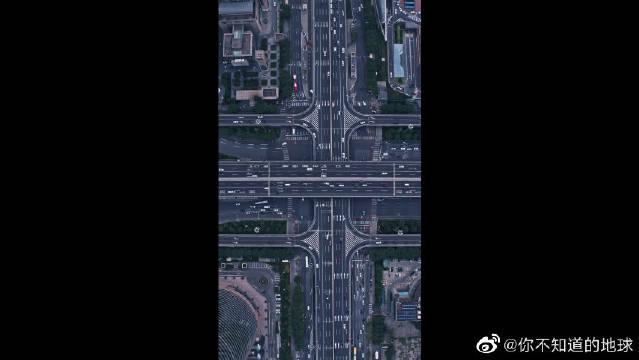 航拍北京,俯瞰国贸桥与CBD