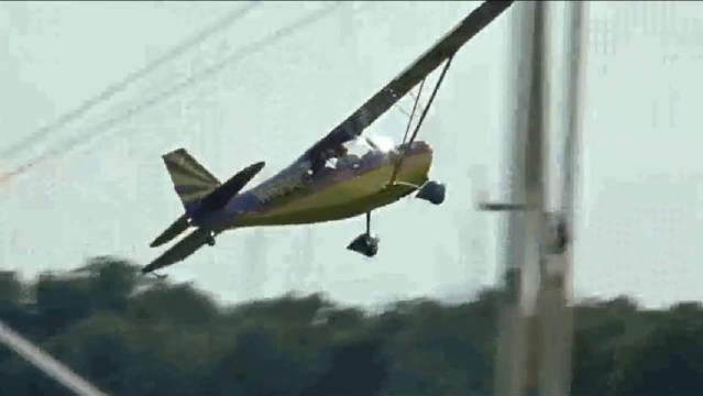 螺旋桨固定翼私人飞机,低空穿越,佩服!