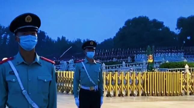 今天,是九一八事变89周年,天安门举行隆重的升国旗仪式……