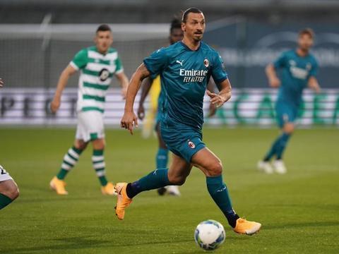 欧联资格赛-米兰2-0获赛季首胜:伊布建功恰神独造2球