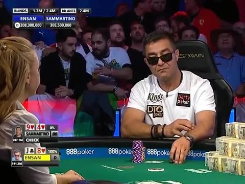 德州扑克:WSOP决赛桌,我连开三枪这样都不信我嘛