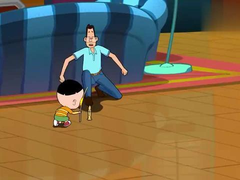 大头儿子:父子俩制作风筝,虽然失败了很多次,但二人仍然坚持着