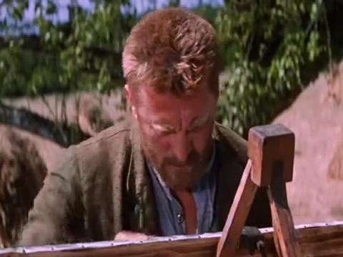 梵高的绘画功力大成,却也因此疯狂入魔,拔枪在原野上结束生命