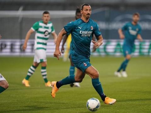 欧联杯资格赛-米兰2-0获赛季首胜:伊布建功恰神独造2球