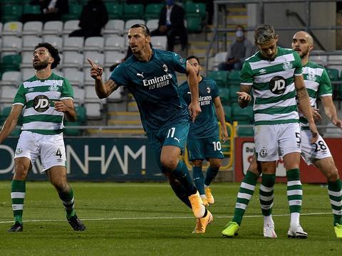 欧联-伊布破僵恰尔汗奥卢建功 米兰2-0晋级第3轮