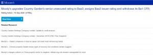 重大利好!穆迪上调碧桂园评级至投资级Baa3,债券评级连升2级!