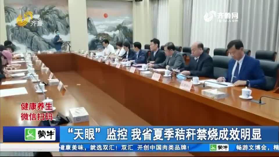 """""""天眼""""监控 山东省夏季秸秆禁烧成效明显"""