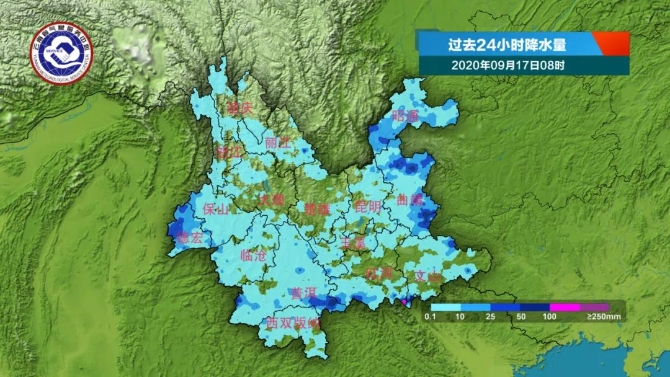 云南降雨阵地转移 滇西、滇南雨势很猛!多地需防范地质灾害