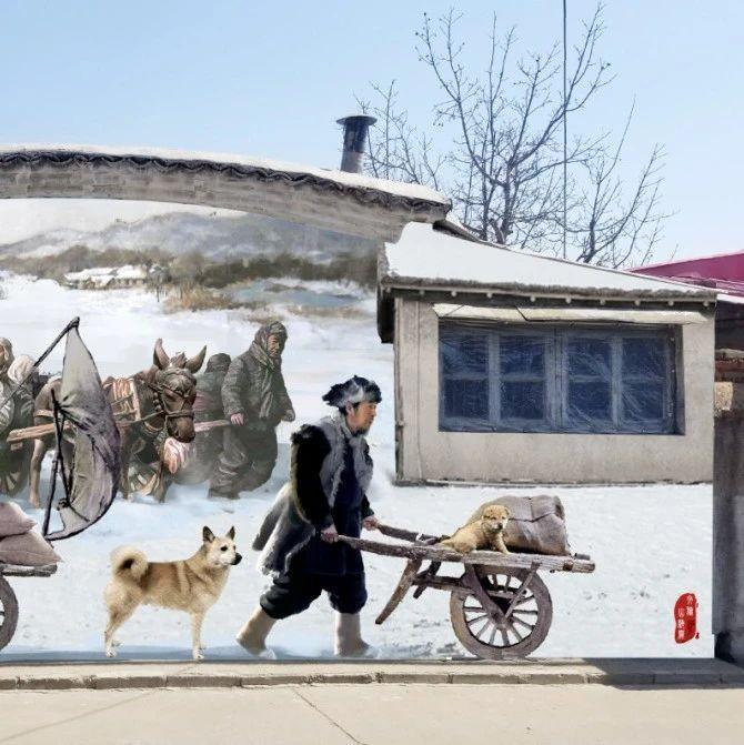 山海关古城又现网红打卡地,艺术墙绘引人注目!