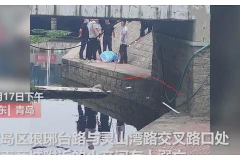 昨天,青岛一河中发现年青女尸,疑似投河自尽|溺亡|尸体|湾路