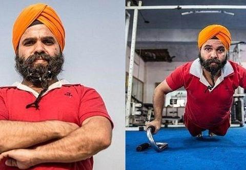 印度大叔每天坚持锻炼自己的胡子,只为破世界纪录,载入史册!