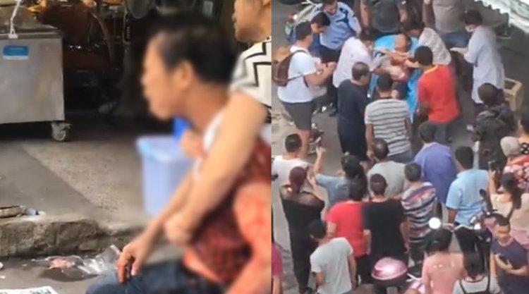 广西玉林一男子持刀捅伤水果店老板后逃离